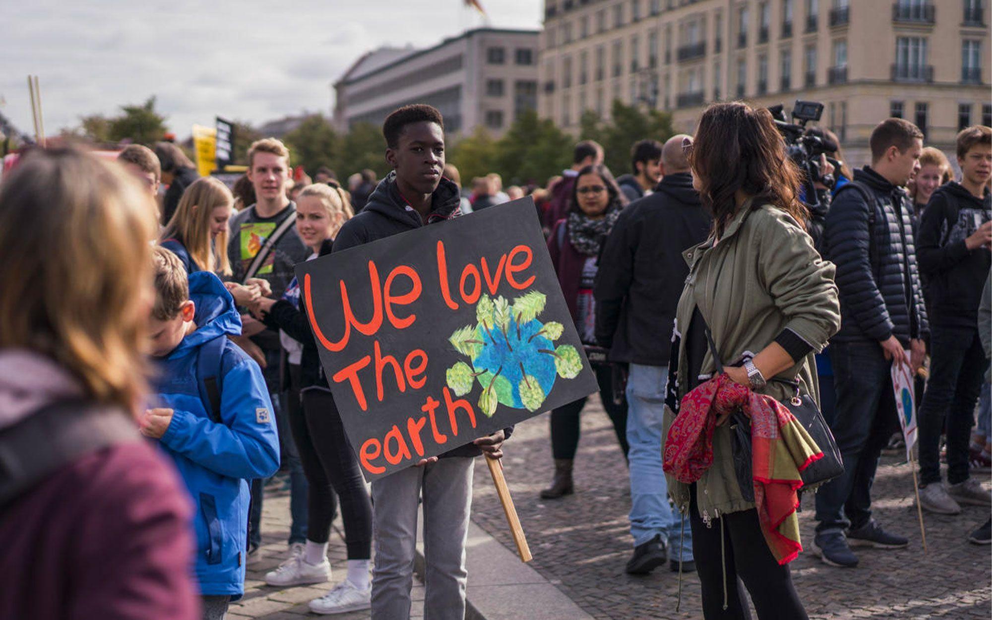 Global Climate Strike - We love the Earth